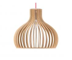 Pendelleuchte heller Holzfarbton MALONE XL