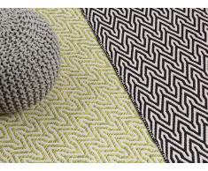 Teppich grün-beige 120 x 170 cm Kurzflor MALKARA