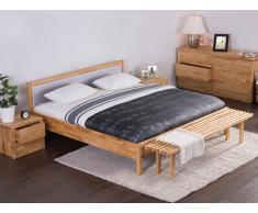 Holzbett - Doppelbett inkl. Lattenrost - grau - 180x200 cm - CARRIS