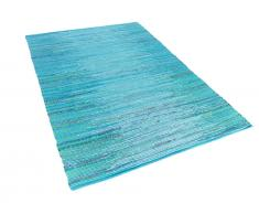 Teppich blau 140 x 200 cm Kurzflor MERSIN