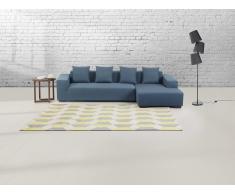 Teppich grau-gelb - 80x150 cm - Polyester - ANTALYA