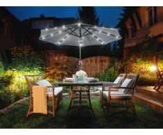 Runder Sonnenschirm mit LED - Anthrazit RAPALLO