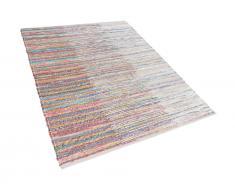 Teppich Bunt - 160x230 cm - Baumwolle - Läufer - Vorlage - Wohnzimmerteppich - MERSIN