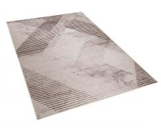 Teppich schwarz-hellrot 160 x 230 cm KALE
