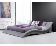 Bett 180x200 cm mit Lattenrost - Stoffbett - Ehebett - Doppelbett - Polsterbett grau - VICHY