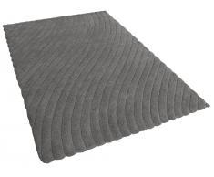 Teppich grau - 160x230 cm - Velours - Polyester -ORDU