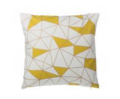 Dekokissen Netzmotiv Baumwolle gelb 45 x 45 cm CLARKIA