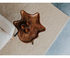 Teppich hellbeige 80 x 150 cm Shaggy DEMRE