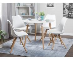 Esstisch Weiss - 90 cm - Küchentisch - Esszimmertisch - BOVIO