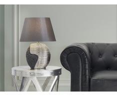 Tischlampe schwarz-silber - Leselampe - Nachttischlampe - Tischleuchte - Beleuchtung - ESLA