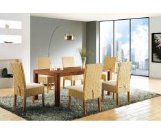 Esstisch Holz braun 150 x 90 cm NATURA