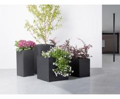 Blumenkübel schwarz rechteckig 30 x 30 x 30 cm MELAR