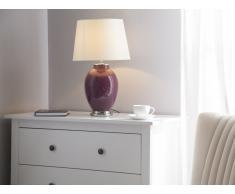 Tischlampe lila 45 cm BRENTA
