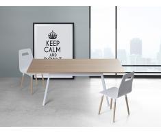 Esstisch Weiss - 180 cm - Küchentisch - Esszimmertisch - FLOW