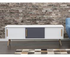 Sideboard Weiss - Kommode - Regal - Lowboard - Fernsehtisch - INDIANA