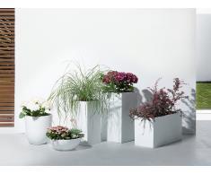 Blumenkübel weiss rund 34 x 34 x 12 cm MURITZ