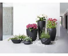 Blumenkübel schwarz rund 50 x 50 x 50 cm OHRIT