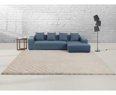 Teppich beige 140 x 200 cm Hochflor ORDU