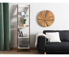 Bücherregal dunkler Holzfarbton/weiss MOBILE DUO