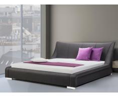Polsterbett 180x200 cm - Stoffbett - Doppelbett inkl. Lattenrost - NANTES schwarz-Anthrazit