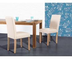 Stuhl Beige - Esszimmerstuhl - Küchenstuhl - Polsterstuhl - Essstuhl - Sitzmöbel - BROADWAY