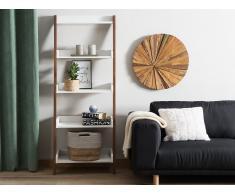 Bücherregal dunkler Holzfarbton/weiss MOBILE TRIO