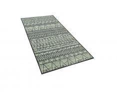 Teppich schwarz-grau Zickzackmuster 80 x 150 cm KEBAN