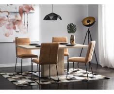 Esszimmertisch heller Holzfarbton 160 x 90 cm PASADENA