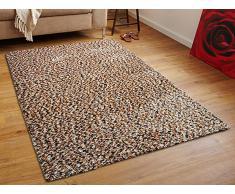 Teppich goldbraun 300 x 400 cm Hochflor OREN