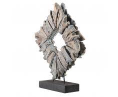 Dekoration Holz grau KABAH