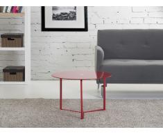 Kaffeetisch rot 60x40 cm - Beistelltisch - Clubtisch - Couchtisch - TRIBECA