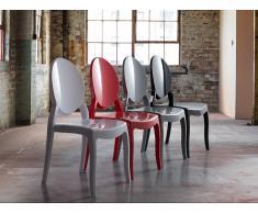 Stuhl Rot - Esszimmerstuhl - Küchenstuhl - Essstuhl - MERTON