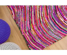 Teppich bunt 160 x 230 cm Hochflor KESAN