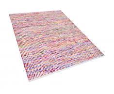 Teppich Bunt - 160x230 cm - Baumwolle - Läufer - Vorlage - Wohnzimmerteppich - BELEN