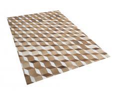 Teppich braun 160 x 230 cm Leder USAK