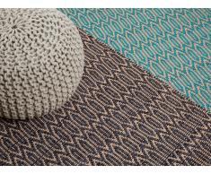 Teppich braun-beige 80 x 150 cm Kurzflor SILOPI