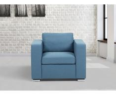Sessel Blau - Relaxsessel - Fernsehsessel - Chefsessel - Polstersessel - HELSINKI