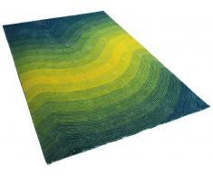 Teppich türkis - 160x230 cm - Shaggy - Polyester - EFEZ