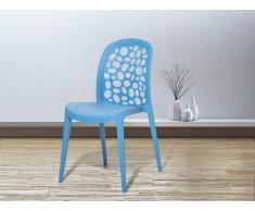 Gartenstuhl blau - Plastikstuhl - Stuhl aus Kunststoff - RUBIN