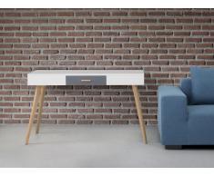 Schreibtisch weiss 120 x 55 cm RUSH