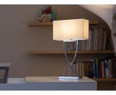 Tischlampe Weiss - Tischleuchte - Nachttischlampe - Leselampe - Beleuchtung - YASUNI