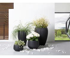 Blumentopf Schwarz - Pflanzkübel - Blumenkübel - Übertopf - 45x45x34 cm - CORRIB