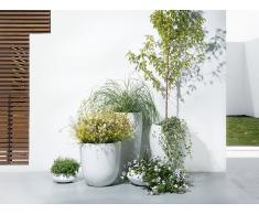 Blumenkübel weiss rund 30 x 30 x 60 cm ONEGA