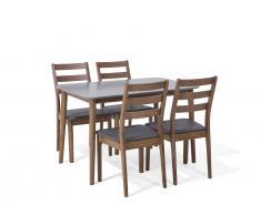 Essgruppe Holz weiss-braun 4-Sitzer 118 cm MODESTO