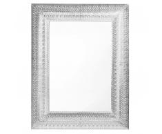 Wandspiegel silber rechteckig 70 x 90 cm PORDIC