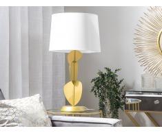 Tischlampe weiß/gold 46 cm JOLLIE