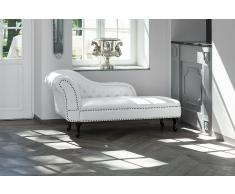 Couch Weiss - Sofa - Recamiere - Relaxliege - Liegestuhl - Chesterfield - NIMES