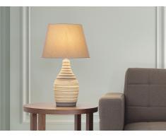 Tischlampe braun - Leselampe - Nachttischlampe - Tischleuchte - Beleuchtung - TORMES