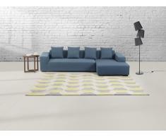 Teppich grau-gelb - 160x230 cm - Polyester - ANTALYA