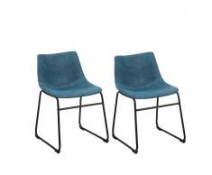 Stuhl blau 2er Set BATAVIA